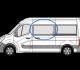 Renault Master 2010> N/S/F (MWB/LWB/XLWB) Fixed Window In Privacy Tint w076