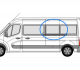 Renault Master 2010> N/S/M LWB Fixed Window In Privacy Tint w094