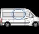 Renault Master 2010> O/S/F (MWB/LWB/XLWB) Sliding Window In Privacy Tint w077