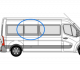 Renault Master 2010> O/S/M LWB Fixed Window In Privacy Tint w094
