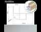 Morland Aluminium Locker Door Profile 57x38x2200mm