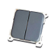 CBE Double Switch Grey Unipolar 270142