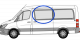 Mercedes Sprinter,VW Crafter N/S/F Fixed Window in Privacy Tint MWB/LWB w008