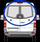 Mercedes Sprinter, Volkswagen Crafter Rear Door Glass Pair C-Shaped