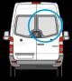 Mercedes Sprinter, Volkswagen Crafter Rear Door Glass Right w177