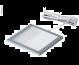 LED Ceiling Light 12V / 3W, Frame Silver, 100x100mm