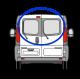 Ford Transit 2000-2013 barn door pair W048/9