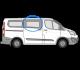 Ford Transit Custom O/S/F Fixed Window in Privacy Tint (SWB/LWB) W104